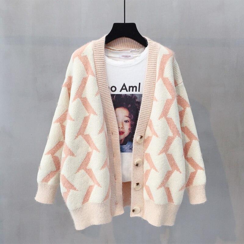 Осенне зимний вязаный кардиган пальто женский 2018 модный свитер с длинными рукавами красивый женский утепленный кардиган