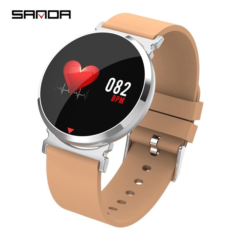 Bluetooth Smart Watch Men New SANDA Touch Screen Waterproof Heart Rate Tracker Blood Pressure Smartwatch Women