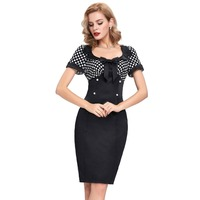 Fashion Summer Dress Elegant Button Casual Work Office Women Midi Business Pencil Bodycon Dresses Short Sleeve