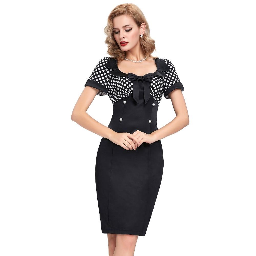 2016 Retro Summer Dresses Women Pencil Bodycon Dress 50s ...