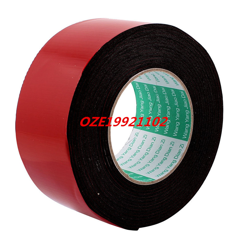 1PCS 60mmx2mm Double Sided Sponge Tape Adhesive Sticker Foam Glue Strip Sealing 16Ft 2pcs 2 5x 1cm single sided self adhesive shockproof sponge foam tape 2m length
