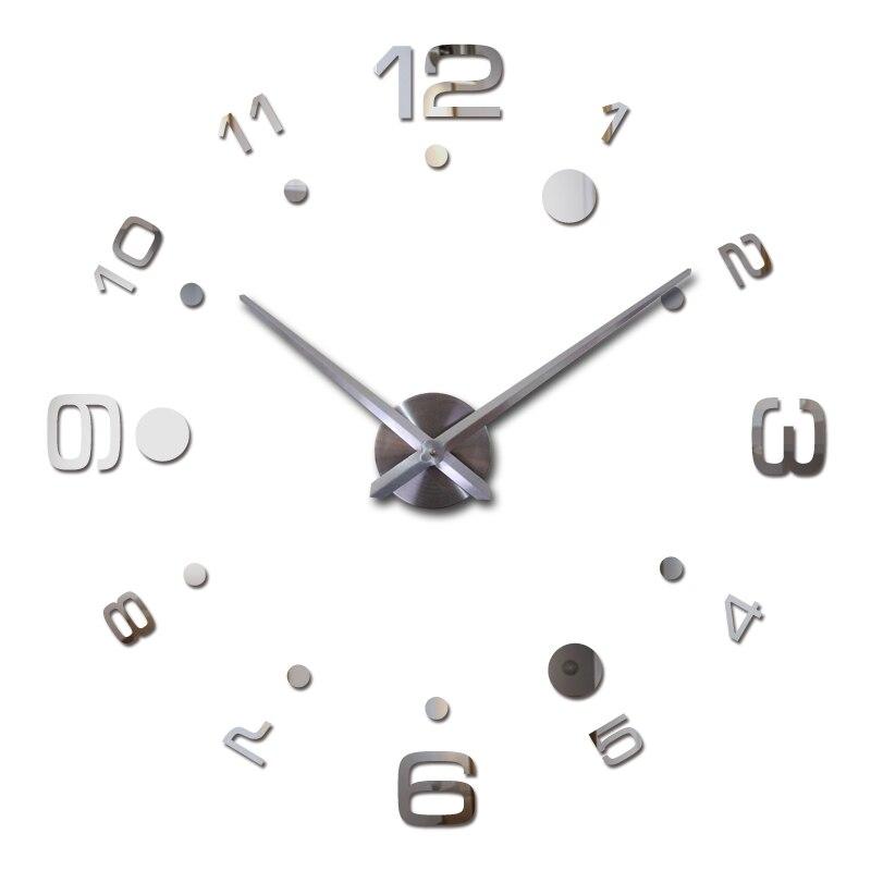톱 패션 DIY 3D 시계 시계 벽시계 아크릴 거울 홈 인테리어 석영 원형 바늘 현대 금속