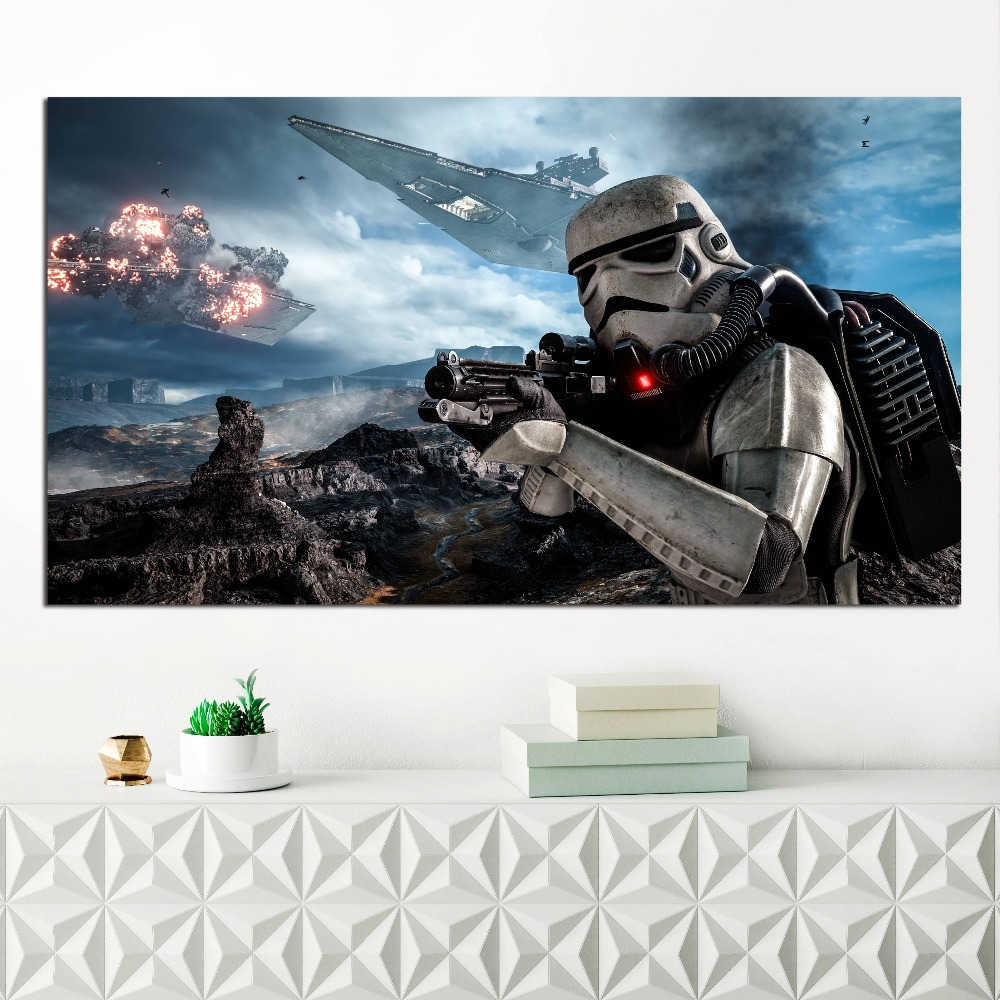 Star Wars Battlefront Motivational Quote Minimalist Art Canvas Poster Print Abstract Painting Wall Picture Modern Home Decor image