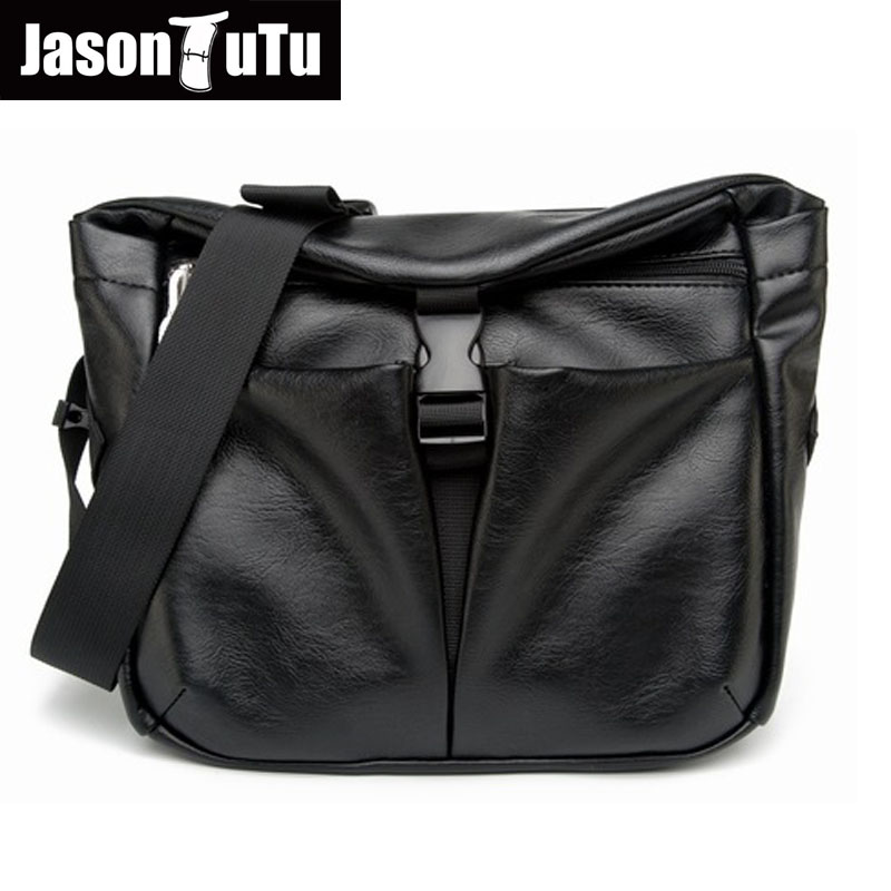 JASON TUTU Fashion small Shoulder Bags Men messenger bag Good quality PU leather Crossbody bag male waist bag free shipping B459 small sport bag shoulder bags for men a outdoor fashion bags hiking bags free shipping