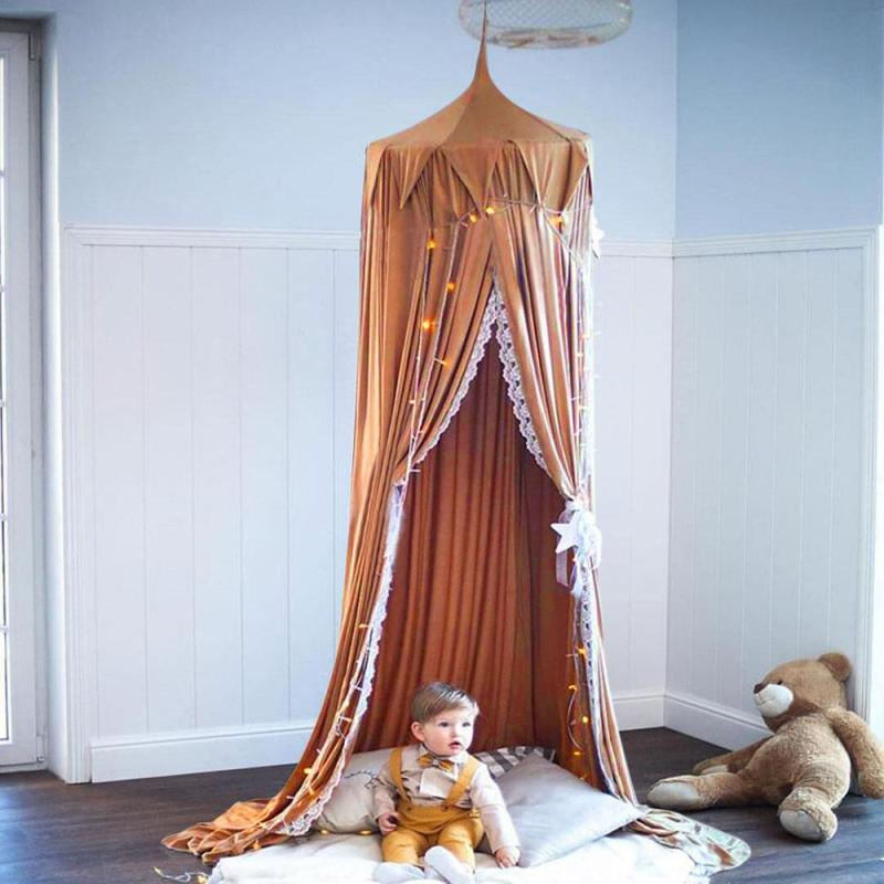 Baby Bed Curtain Children Room decoration Crib Netting baby Tent Cotton Hung Dome Baby Mosquito Net photography props #30