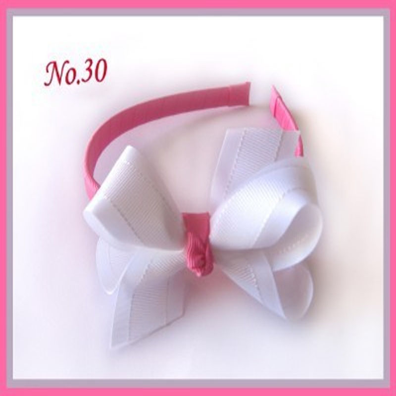 18 pcs 3 ABC Headband New Spring Grosgrain Ribbon /Lace Print Kids Hair Accessories