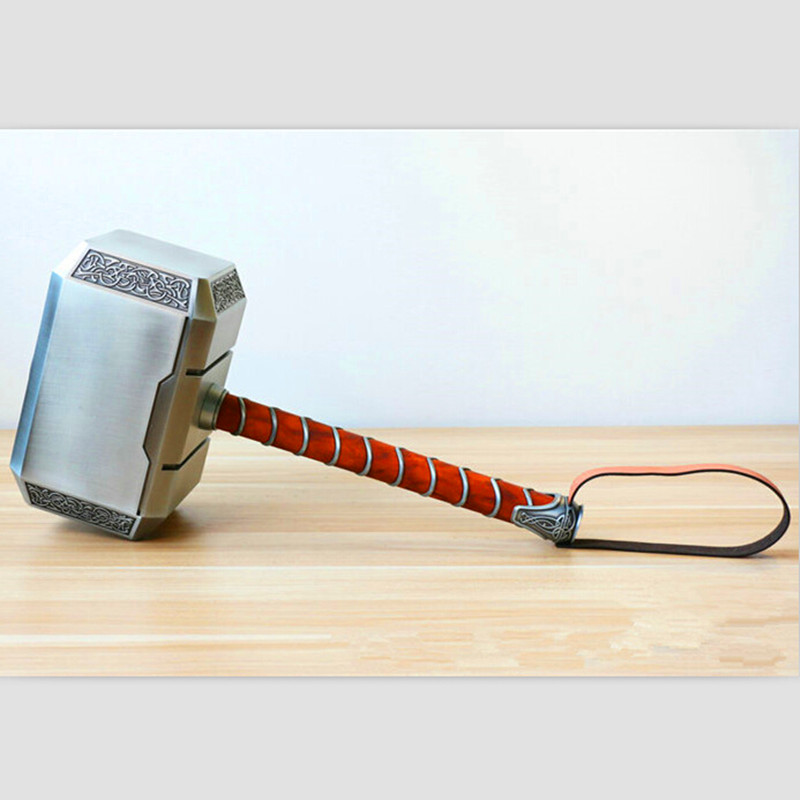 Free Shipping   [Metal Made] (No Wooden Box) CATTOYS 1:1 Thor Mjolnir Hammer Avengers Replica Prop With Led Stand Base portable blender mini mixer automatic self stirring mug