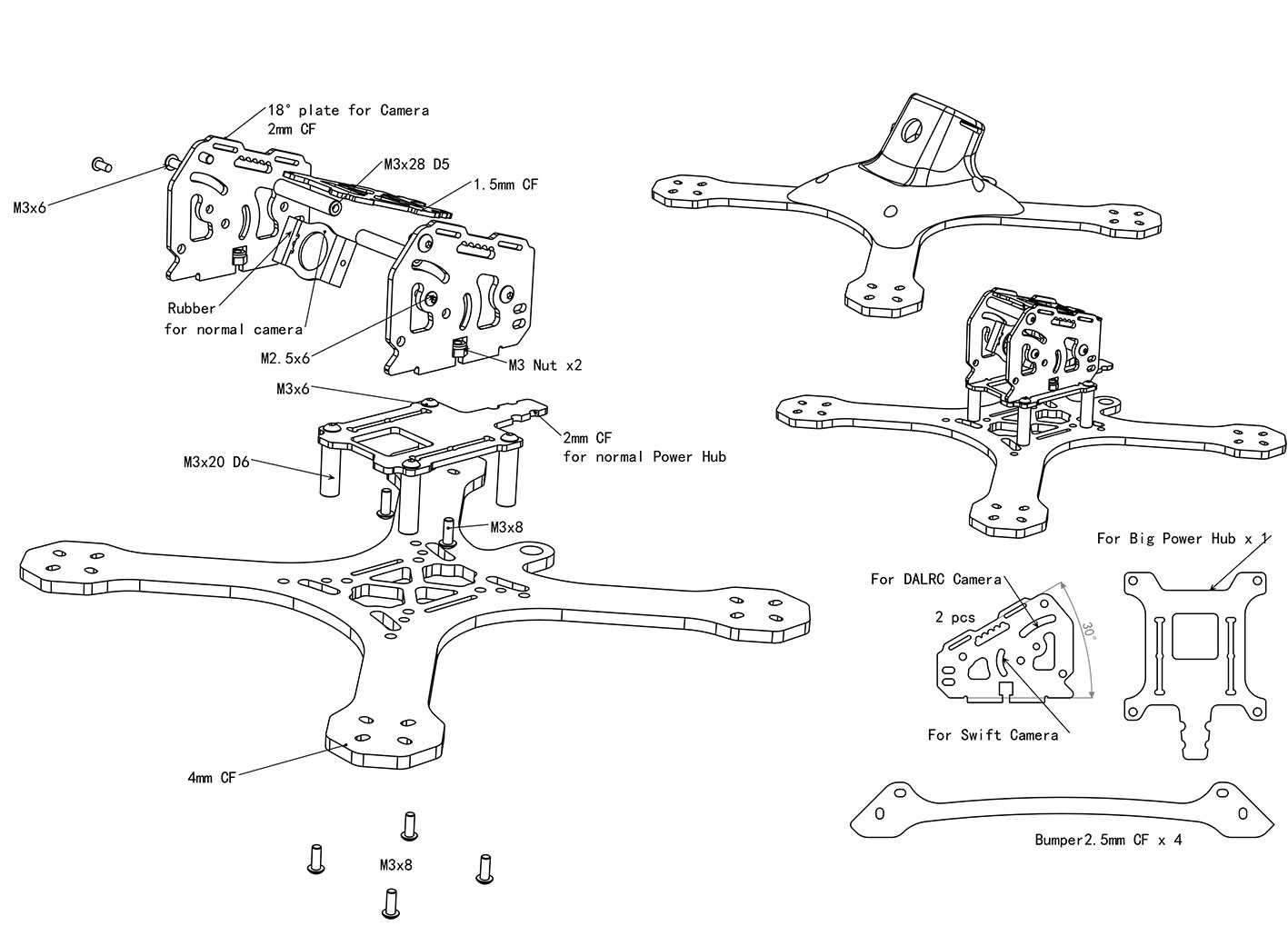 RJX часть X Speed XBR 220 FPV гоночный Дрон RC комплект Квадрокоптер разобранный мультиротор запчасти - 4