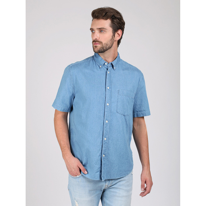 Shirt for men tom farr T M2420.33 men pocket front contrast panel t shirt