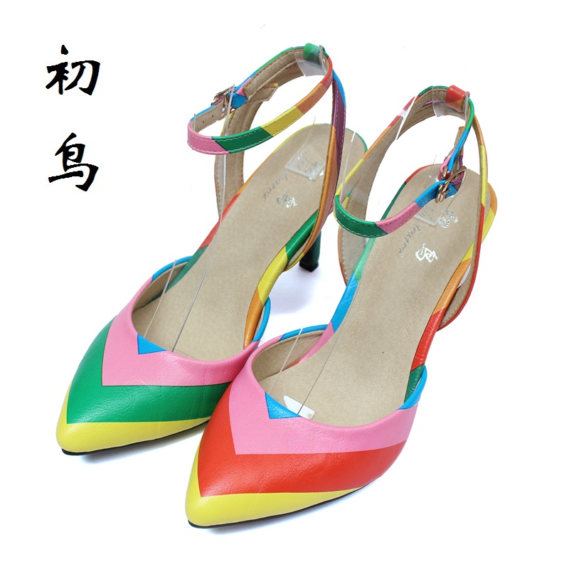 2017 Size 33-41 Fashion Multicolor Sexy Women Sandals High Heels Ladies Pumps Shoes Woman Summer Style Chaussure Femme 34 40 lloprost ke 2017 summer new style fashion sandals of woman ladies shoes on heels big size 32 45 three color woman sandals lyf015