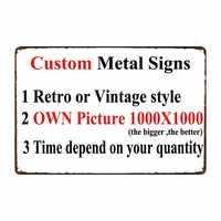 [Decoración de micrófono] carteles de Metal personalizados decoración de póster para bar casa pub 20x30 CM