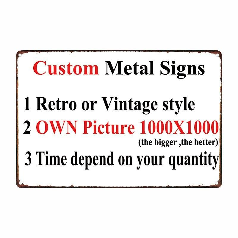 [Mike Decor] Personalizado placas de Metal Poster decoração para casa bar pub 20x30 CM
