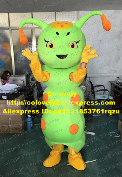 Wretched Green Carpenterworm Caterpillar Bean Worm Bug Mascot