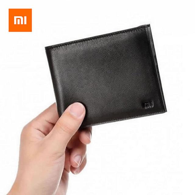 d9cadf64f82f 100% оригинал Xiaomi бумажник из натуральной кожи Для мужчин кошелек для  кредитных карт ID Бизнес