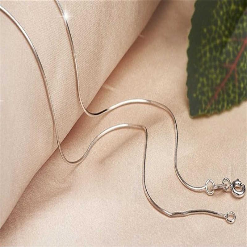 אופנתי Wild שרשרת יוקרה ארוך תליון שרשרת גברים נשים תכשיטי שרשרת נחש שרשרת 16 inch-24 inch באיכות גבוהה 1.2mm L0326
