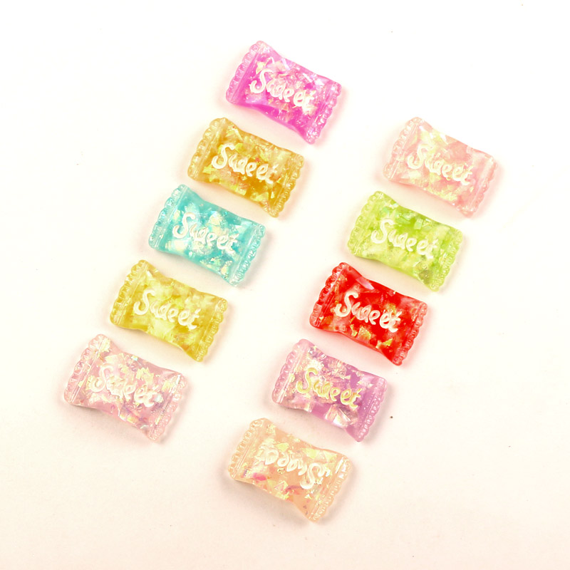 LF  20Pcs Mixed Resin Bling Sweet Decoration Crafts Flatback Cabochon Kawaii DIY Embellishments For Scrapbooking Accessories