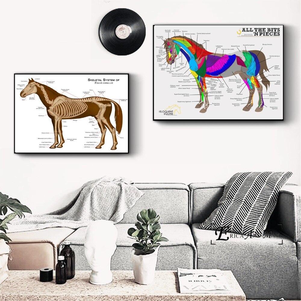 Лошадь тела Системы Ch Книги по искусству холст картины Плакаты и принты для Гостиная не оформлена стены Книги по искусству картины Home Decor на ...