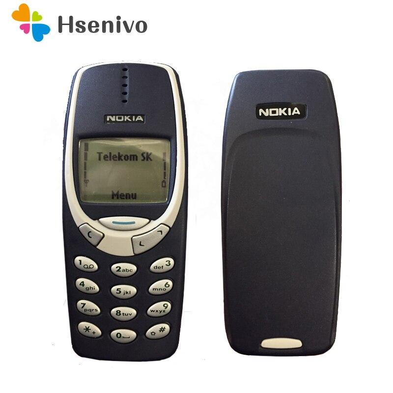 Reacondicionado Original Nokia 3310 barato teléfono desbloqueado GSM 900/1800 ruso y árabe teclado multi idioma 1 año de garantía