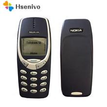 Refurbished Original Nokia 3310 cheap phone unlocked GSM 900/1800 with russian& Arabic keyboard multi language 1 year warranty