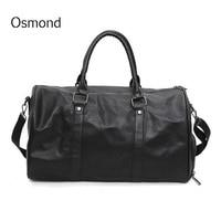Osmond PU Duffel Bag Travel Baggage Bag Weekend Overnight Luggage Bags Women Totes Large Shoulder Bags Traveling Bolsa Men