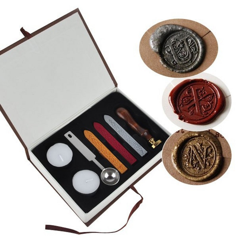 Personalized Harry Potter Hogwarts School Initial Letter Vintage Alphabet Wax Badge Seal Stamp w/Wax Kit Set Letter A-Z Optional details about vintage harry potter ravenclaw hawk eagle school badge wax seal stamp kit set