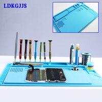 Anti static Heat resistant Soldering Mat Silicone Insulation Mat BGA Soldering Station Desk Mat Electronic Repair Tools Kit