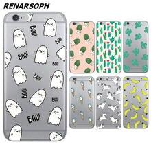 Cartoon Cute Unicorn Banana Ice Cream Cactus Egg Dolls Phone Cases For iPhone 4 4S 5C 5 5S SE 6 6S 7 6Plus 6SPlus 7Plus L3C49-07