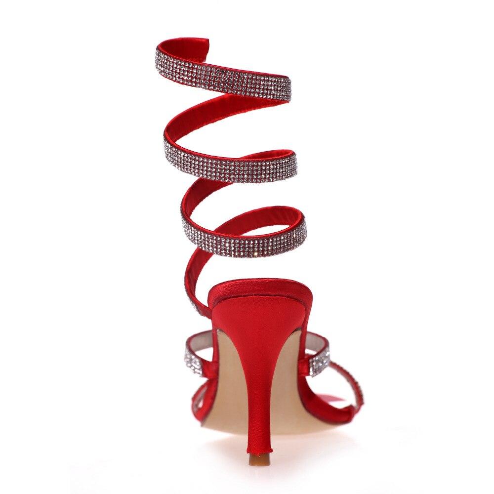 bccddf0d4f4a Creativesugar en spirale De Mode cheville sangle strass sandales d été  chaussures femme Gladiateur talons hauts soirée club 6 couleurs dans Femmes  de ...