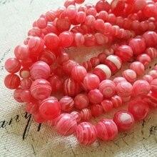 6mm-10mm (2Strands/Pack) Rhodochrosite Imitation Synthetic Malachite Beads Semi-precious Stone Strands Jewelry Beads