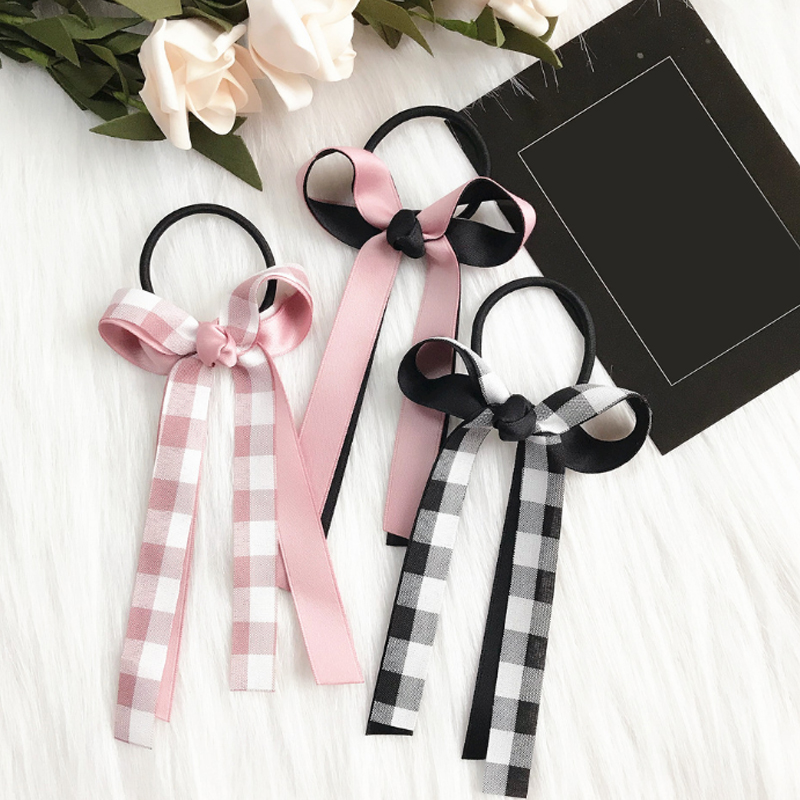 Sale 1PC Elastic Hair Bands For Women Sweet bowknot Girls Hair Accessories Hair Rope ponytail in Women 39 s Hair Accessories from Apparel Accessories
