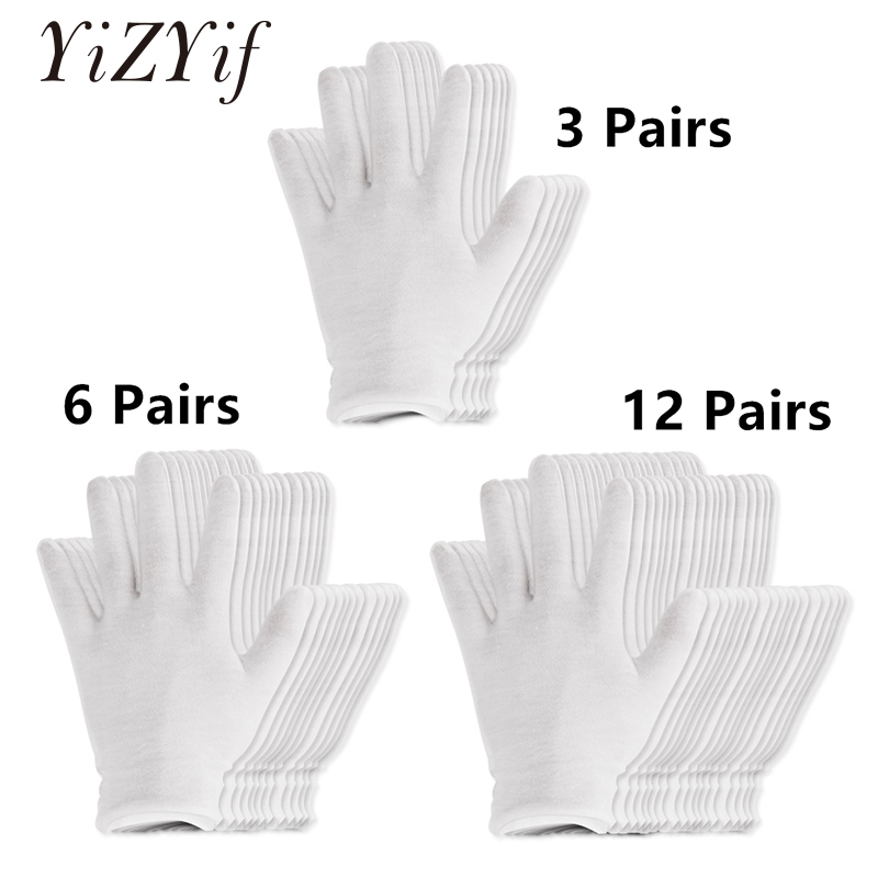 5 PAIR MENS OR WOMENS 100/% COTTON WHITE COIN INSPECTION GLOVES JEWELRY PHOTO