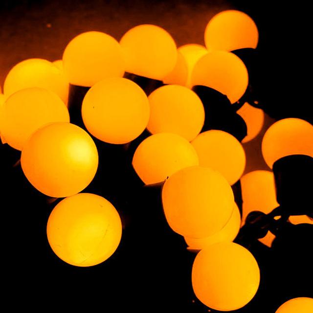 Corda bola levou lâmpada decoração luzes de Natal lanterna estrela corda iluminação lâmpadas luz amarela ao ar livre decoração do partido luz