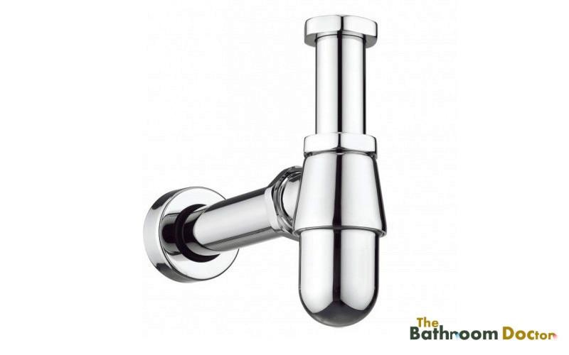 Square Brass Bathroom Basin Sink Tap Bottle Waste Trap