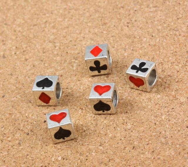 50 stücke Tibetischen Silber Poker Muster Abstandsteilchen Für ...