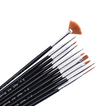 10pcs/pack Kolinsky Acrylic French Nail Art Liner Brushes Drawing Dotting Nail Brush Manicure Pen Styling Tools