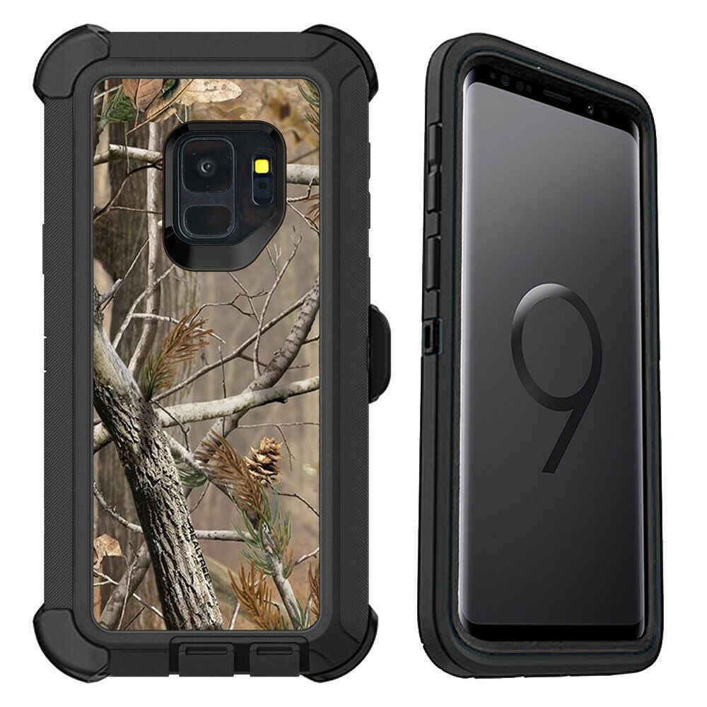 Para Samsung Galaxy S8 S9 S10 más S10 Lite Nota 9 8 Camo Realtree pesado híbrido cubierta prueba de golpes con Clip de cinturón Hostel