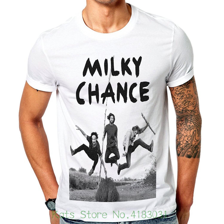 Mazumi8 Milky Chance Electronic Jump T-shirt T Shirt O-neck Fashion Casual High Quality Print T Shirt