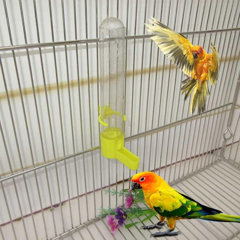 Удобный попугай автоматическая кормушка питьевой контейнер-диспенсер клетка принадлежности для птиц