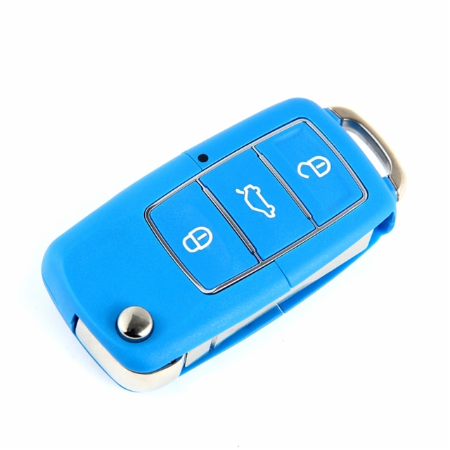 CARCHET 3 Button Remote Key Switch Shell Folding Controller Fob Case Cover Box for VW Volkswagen Bora Beetle For Polo Passat