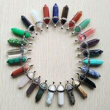 Toptan 50 adet/grup 2020 moda sıcak satış doğal taş kristal charm nokta ayağı kolye kolye yapımı ücretsiz kargo