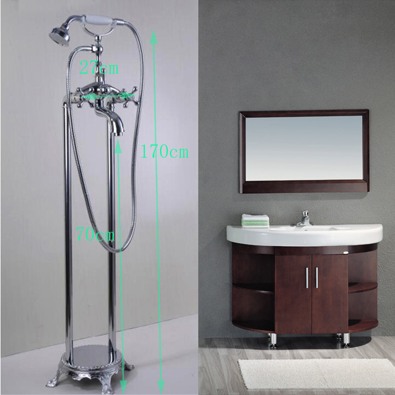 POIQIHY Floor Standing Telephone Style Chrome Finished Easy To Install  Clawfoot Bathtub Faucet  In Bathtub Faucets From Home Improvement On  Aliexpress.com ...