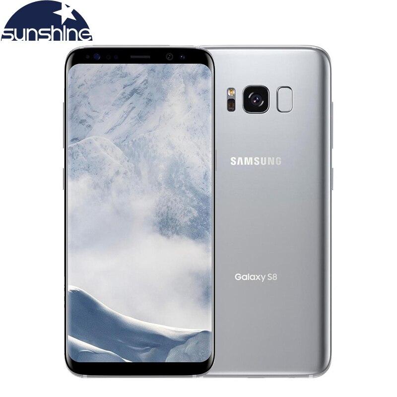 Оригинальный разблокированный мобильный телефон Samsung Galaxy S8, 5,8 дюйма, 12 Мп, 4 Гб ОЗУ 64 Гб ПЗУ, 4G LTE восемь ядер, 3000 мАч, смартфон с распознаванием