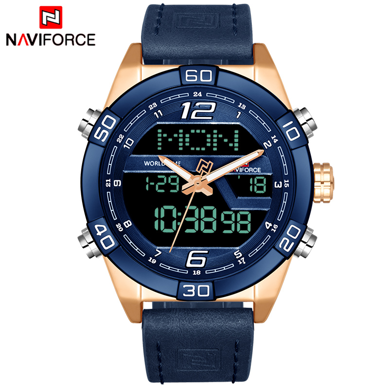 Men Military Sport Watches Men's Waterproof Quartz Wrist Watch Male Leather Date Clock