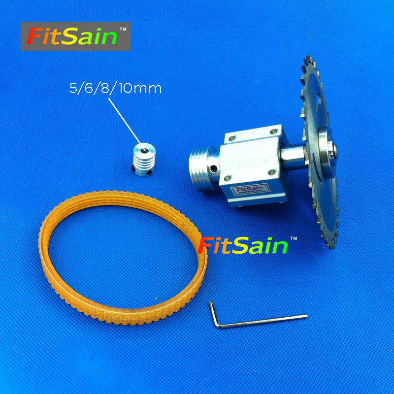 FitSain-Mini scie circulaire à table pour axe de moteur 5/6/8/10mm lame de scie 16mm/ 20mm Ceinture axe De Coupe scies Machine Poulie Support roulement