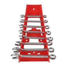 1 Pcs 9 Slot Wrench Holder Red Plastic Wrench Rack Standard
