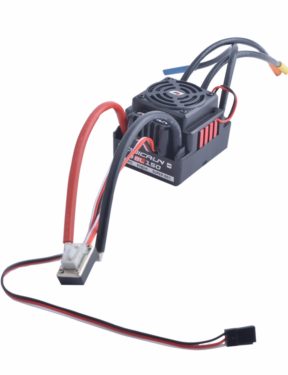 HobbyWing QuicRun WP-8BL150 Black 1//8 Brushless WaterProof 150A ESC For RC Car P