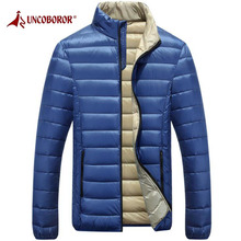 UNCO&BOROR Outdoor Warm Ultra-light Puffer Down Jacket Mens Hiking Climbing Camping Winter Windproof Sports Parka Coat