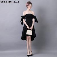 SOCCI Week-End Little Black Dress 2017 Abiti Da Cocktail Donne Sweetheart Manica Corta Da Sposa Formale Abiti Del Partito Robe de