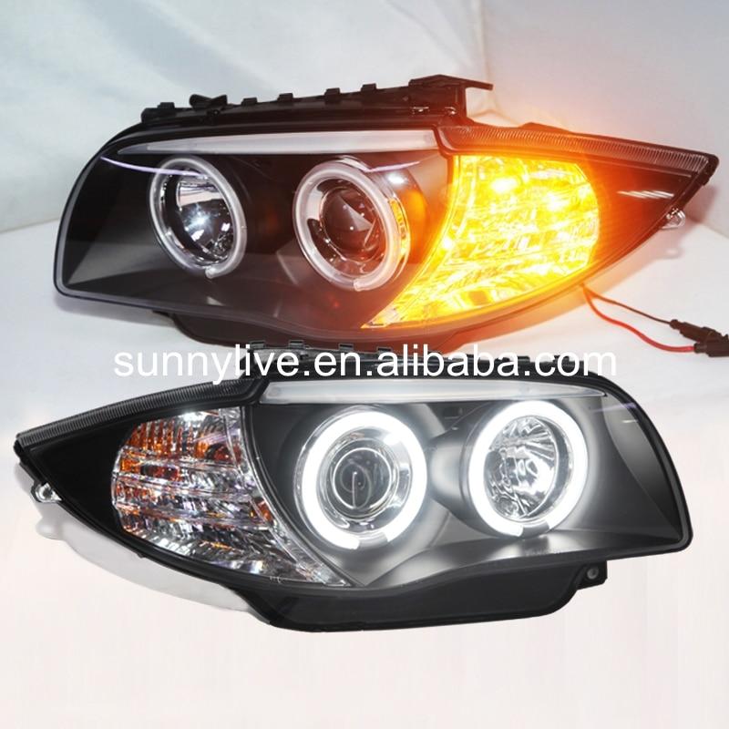 Pour BMW E87 120i 130i phare CCFL Angel Eyes 2006-2011 an SN