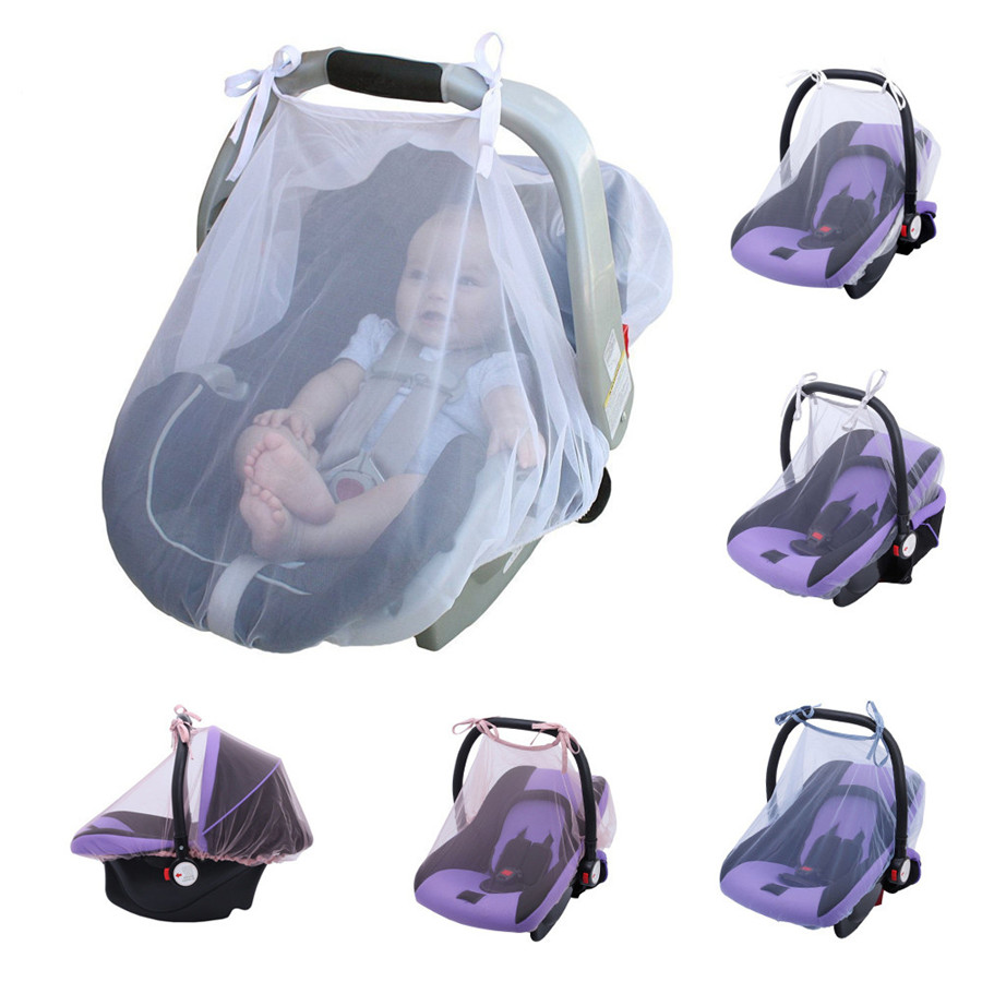 Baby Crib Seat Mosquito NetNewbornCurtainCar Seat Insect Netting CanopyCover Indoor Outdoor 80*110cm Dropshipping